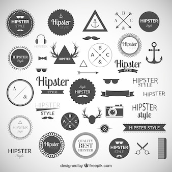 Hipster logo's collectie