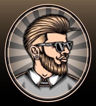 Hipster man kapsel.