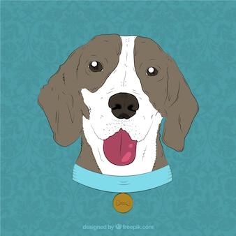 Hipster monocle vlinderdas hond