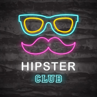 Hipster neon pictogram