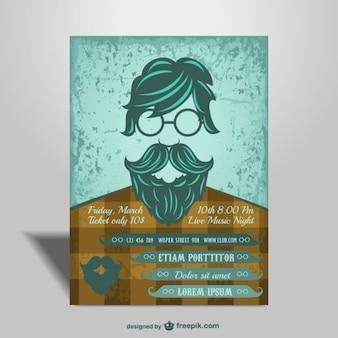 Hipster stijl poster voor concert