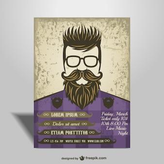 Hipster stijl poster vrij ontwerp