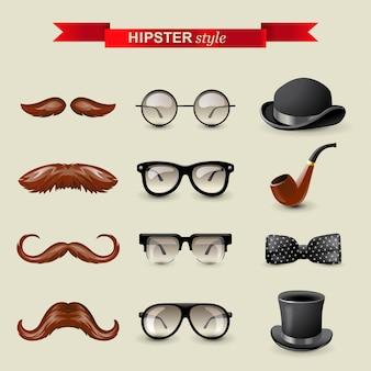 Hipster stijlelementen