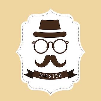 Hipster-stijlontwerp