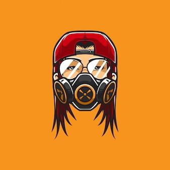 Hipster vrouw hoofd