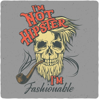Hipsters schedel
