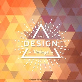 Hispter logo op geometrische achtergrond