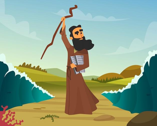 Historische hand getrokken van bijbels verhaal