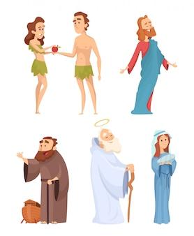 Historische karakters van bijbel.