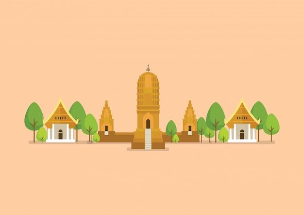 Historische oude tempelillustratie
