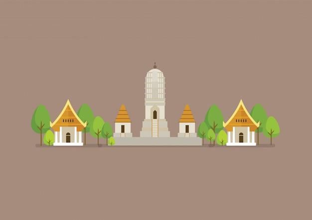 Historische oude witte tempelillustratie