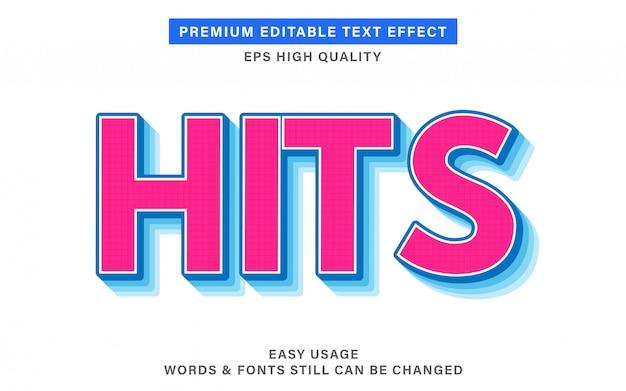 Hits tekst effect