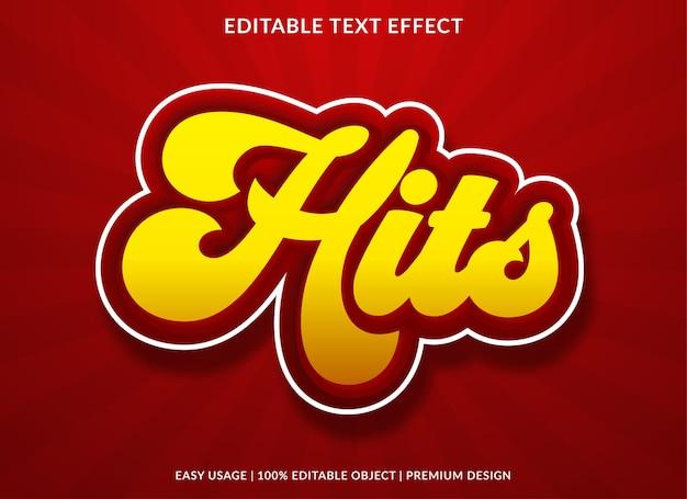 Hits teksteffect sjabloonontwerp premium stijl