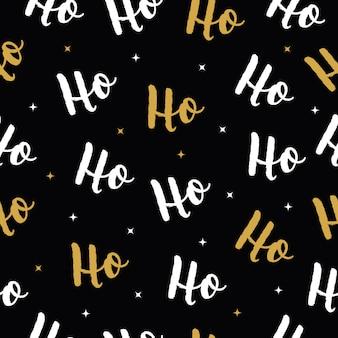 Ho ho ho kerst vector gouden wenskaart
