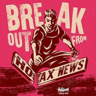 Hoax nieuws illustratie