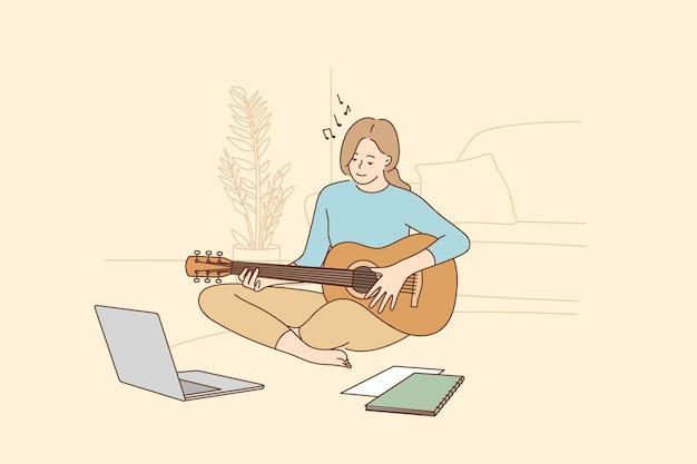 Hobby, vrijetijdsactiviteiten tijdens quarantaineconcept