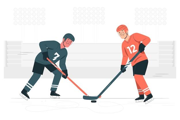 Hockey concept illustratie