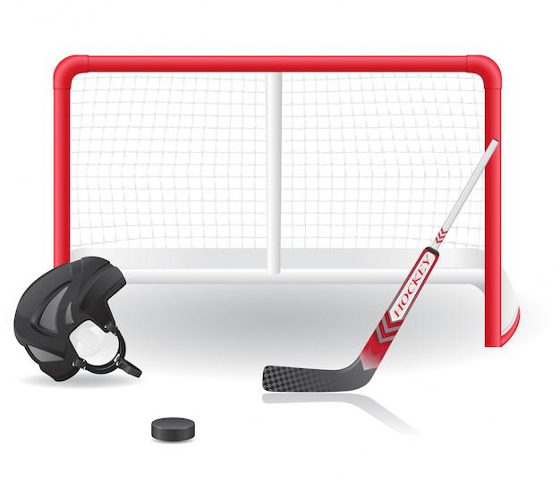 Hockey ingesteld.
