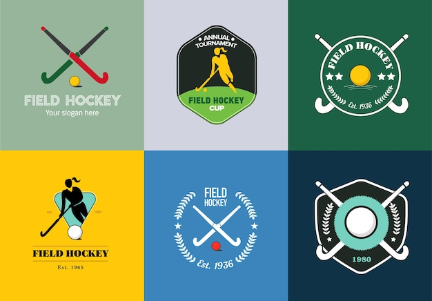 Hockey-logo ingesteld