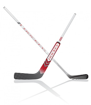 Hockey sticks vector illustratie