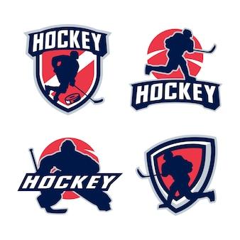 Hockeyspeler silhouet