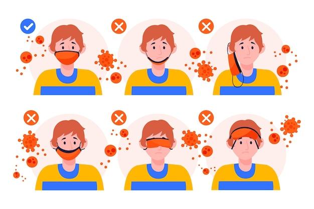 Hoe een gezichtsmasker goed te dragen