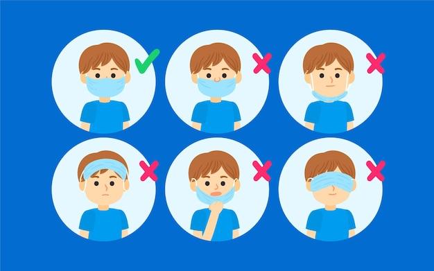 Hoe een gezichtsmaskerillustratie te dragen