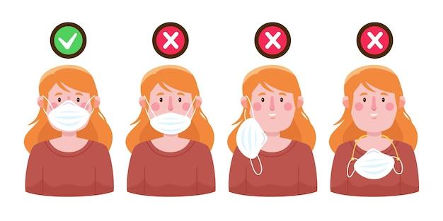 Hoe een masker goed en fout te dragen