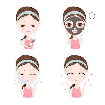 Hoe je een kleimasker op je gezicht gebruikt
