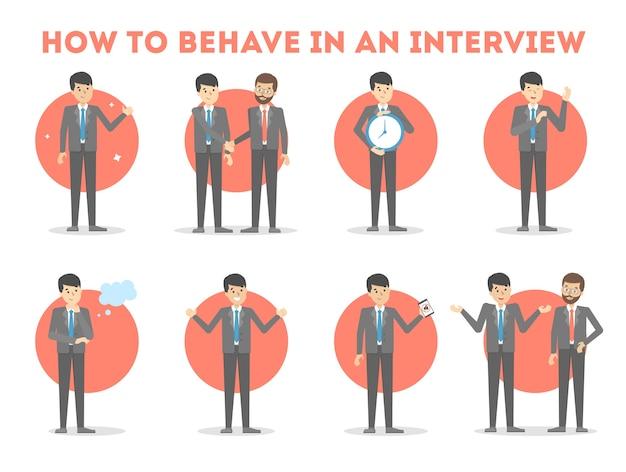 Hoe je je moet gedragen tijdens een sollicitatiegesprek.