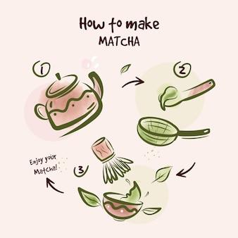 Hoe matcha concept te maken