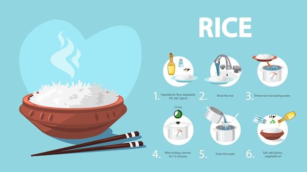 Hoe rijst koken is een eenvoudig recept