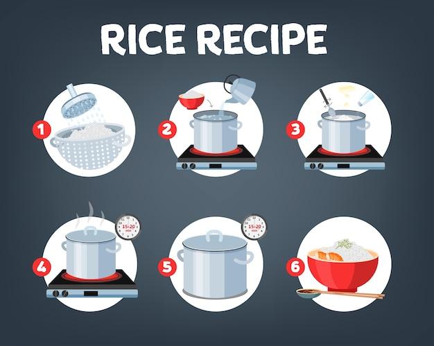 Hoe rijst koken met weinig ingrediënten eenvoudig recept