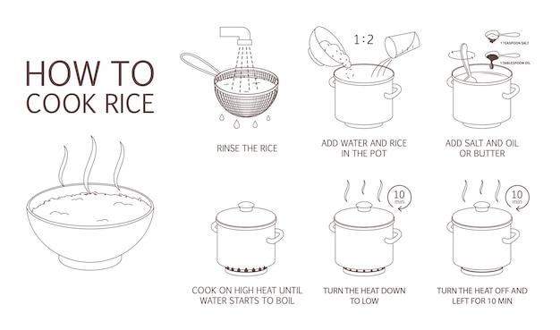 Hoe rijst te koken met weinig ingrediënten eenvoudig recept.