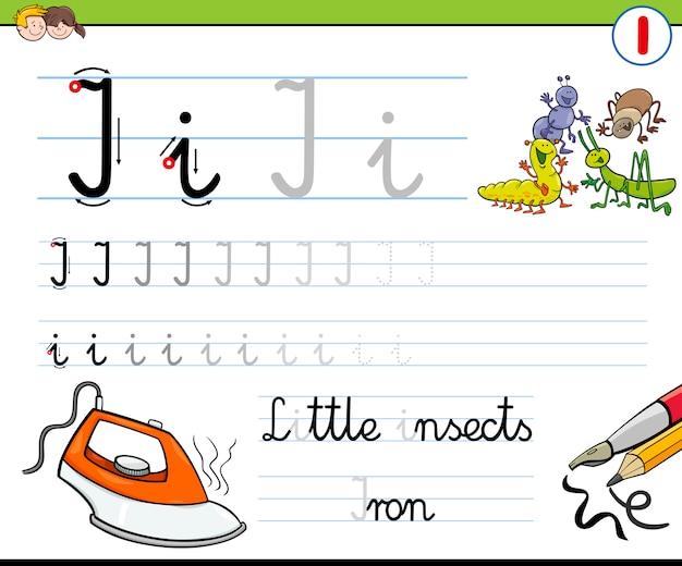 Hoe schrijf ik een letter i