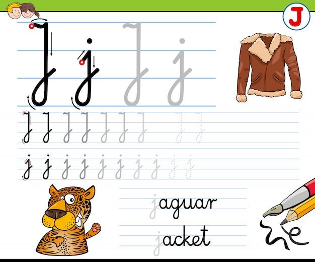Hoe schrijf ik een letter j-werkblad voor kinderen