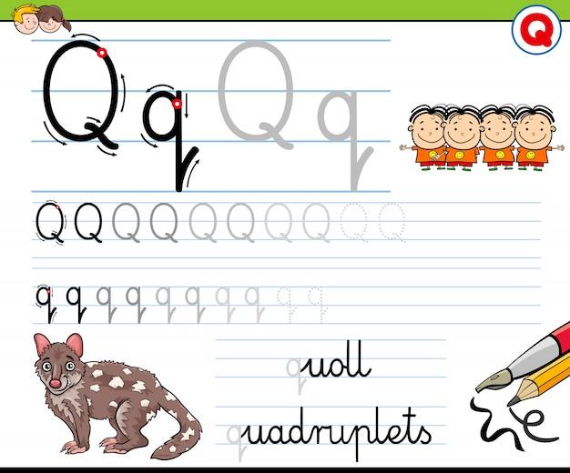 Hoe schrijf ik een q-werkblad voor kinderen
