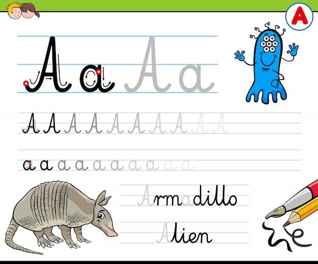 Hoe schrijf je een a-werkblad voor kinderen