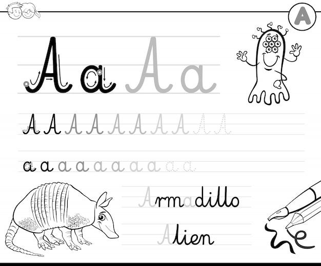 Hoe schrijf je een a-werkblad