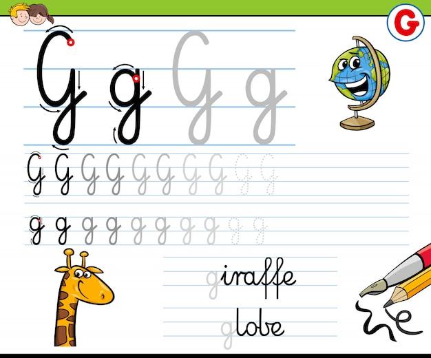 Hoe schrijf je een g-werkblad voor kinderen