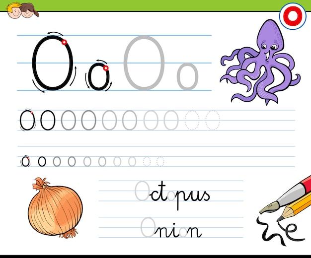 Hoe schrijf je een letter o