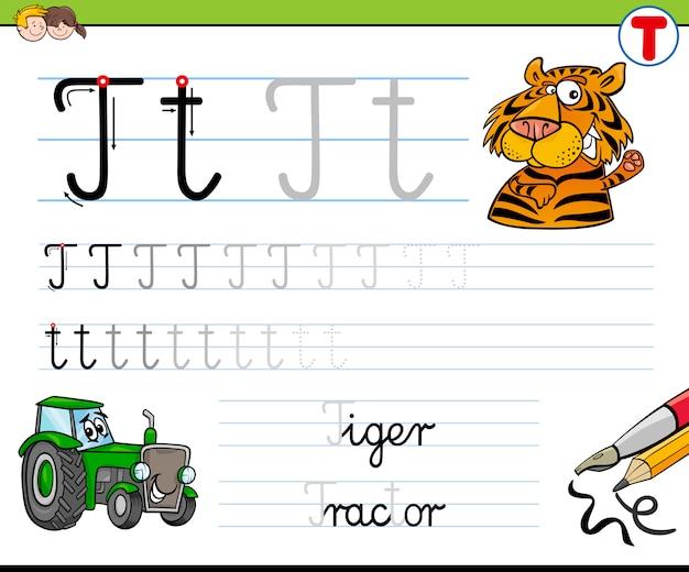 Hoe schrijf je een letter t