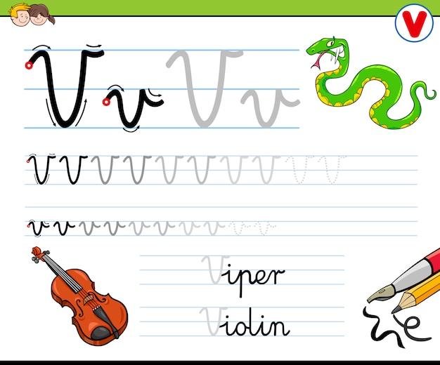 Hoe schrijf je een letter v