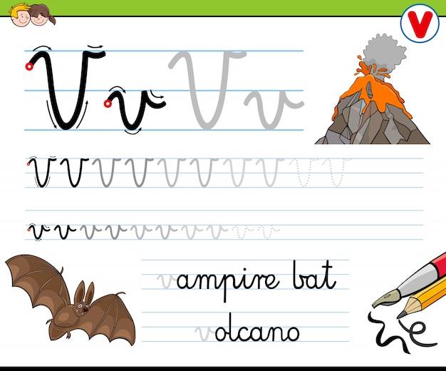 Hoe schrijf je een v-werkblad voor kinderen