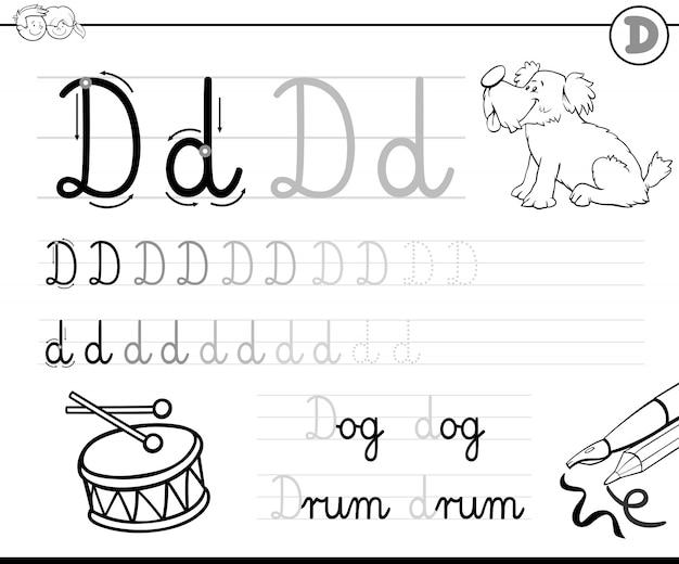 Hoe schrijf je letter d werkboek