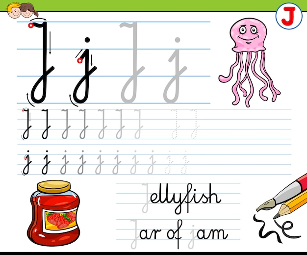 Hoe schrijf je letter j