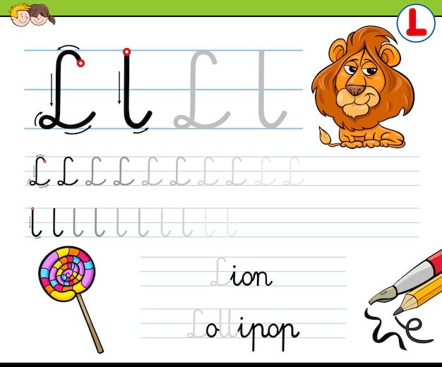 Hoe schrijf je letter l