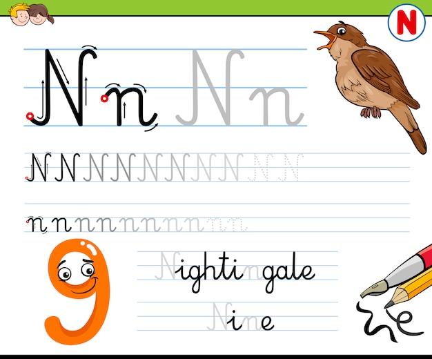 Hoe schrijf je letter n