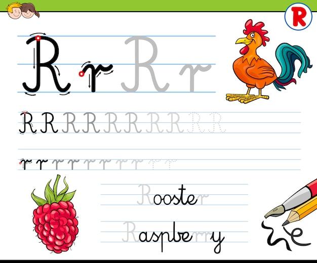 Hoe schrijf je letter r