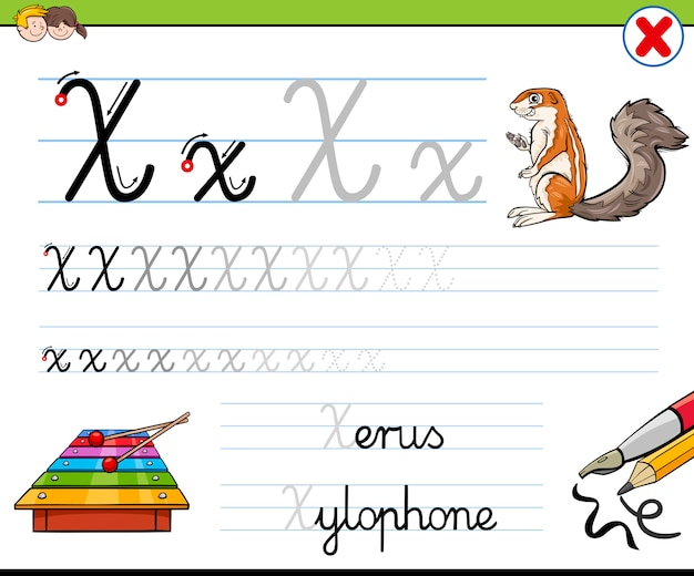 Hoe schrijf je letter x